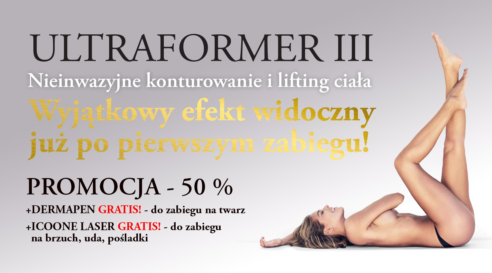 lifting ultradźwiękowy - promocja Jozefow